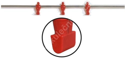 Rod for table football -3 Red player - bars on football