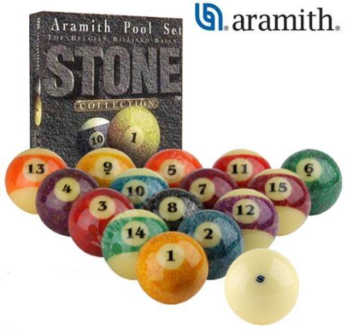 Kulečníkové koule pool ARAMITH Stone Granite Look 57,2 mm