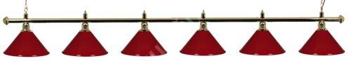 Billiard lamp Gold Light Green 6, gold ramp, green Sirma