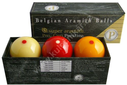 Karambolové balls Super Aramith Pro Cup 3, 61.5 mm