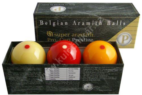 Karambolové koule SUPER Aramith Pro Cup Prestige 3, 61,5 mm
