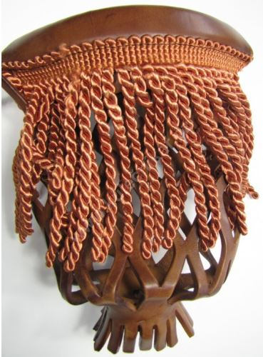 Leather pocket billiard billiard basket - Mahogany