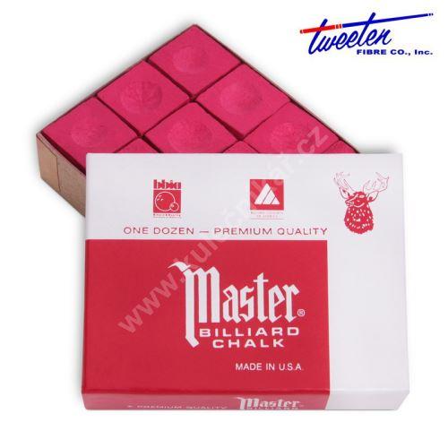 Kulečníková křída na tágo MASTER Red, 12 ks