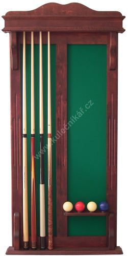 Wall-mounted rack STANDARD Caro H for 4 + 4 cue ball
