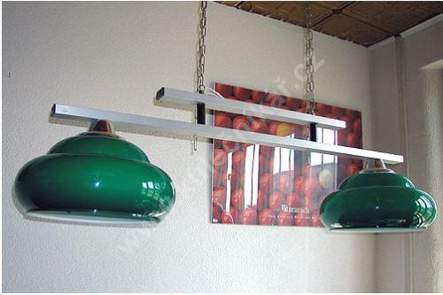 Kulečníková lampa Panorama L/2 stříbrno/zelená