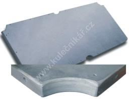 Slate plate 210 to 228 x 123 cm, 170 kg, thickness 22 mm
