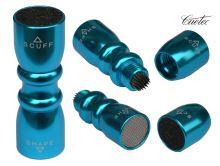 Multifunkční kovový brousek na kůže tága Cuetec Tip Tool 3v1
