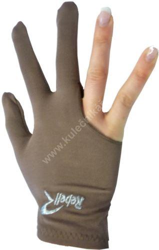 Kulečníková rukavice REBELL hnědá (univerzální pro praváka i leváka)