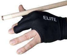 Billiard gloves ELITE 3-finger open, black
