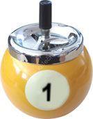 Kovový popelník s motivem kulečníkové poolové koule č.1
