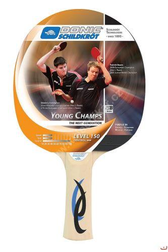 Pálka na stolní tenis DONIC Young Champs 150, konkávní