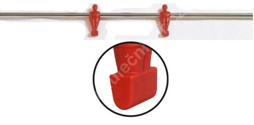 Rod for table football - red 2 players - football bars