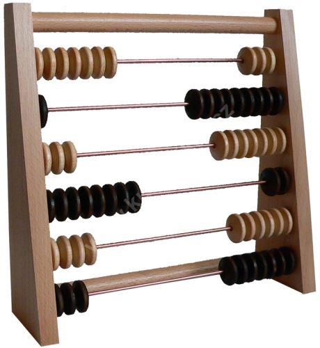 Kulečníkové dřevěné počítadlo šikmé 6, Přírodní