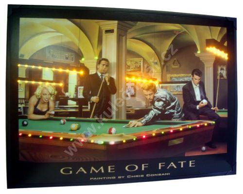 Svítící obraz BILLIARD - Game of fate