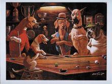 Billiard Poster PSI - Beagel play