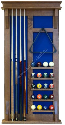 Wall-mounted rack MODERN UNIVERSAL cues 4 + 16 + 4 Balls