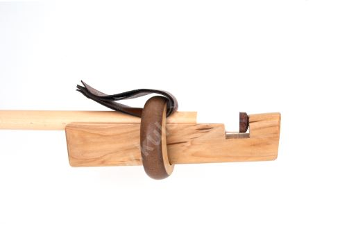 Preparation for bonding leather cue-puller wooden