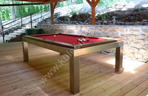 Kulečník pool billiard NEW AGE, Masiv/Nerez - jidelní stůl