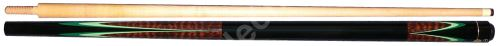 Carom cue - brown - green flames