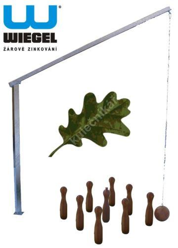 Ruské zahradní kuželky ZÁVĚS zinkovaný -  dubové kuželky