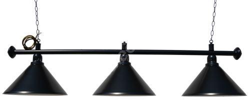 Kulečníková lampa Black Elegant 3, černá matná