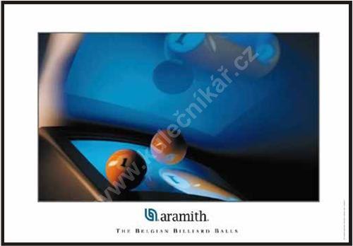 Billiard poster Aramith, Ball and monitor