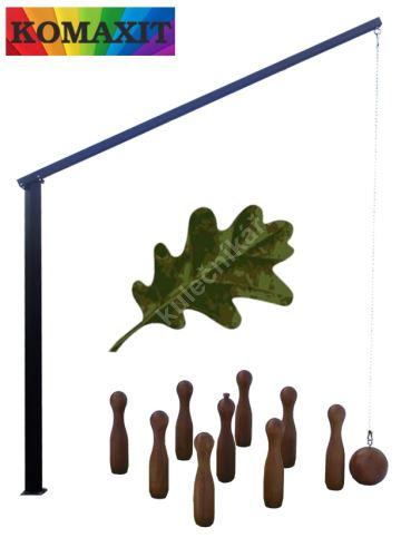 Russian HANGER powder coated garden skittles - bowling oak