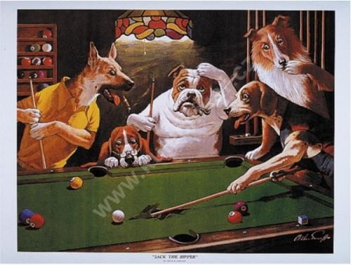 Billiard poster Dogs - Jack the Ripper