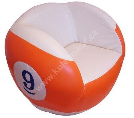 Otočné kulečníkové křeslo - poolová koule číslo 9