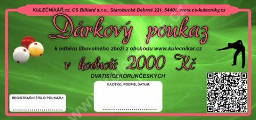 Dárkový poukaz Kč 2000,-