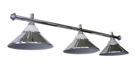 Kulečníková lampa silver stříbrná - 3 širmy + sklo