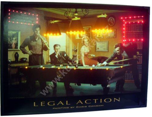 Svítící obraz BILLIARD Legal action