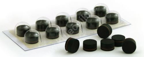 Vrstvená lepící kůže THOMAS Black Medium 13 mm
