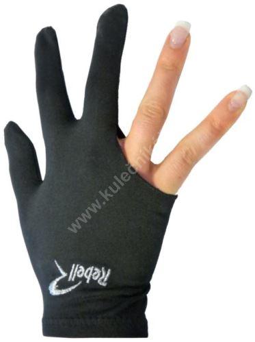 Kulečníková rukavice REBELL černá (univerzální pro praváka i leváka)