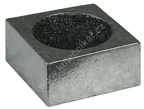 Kovový brousek CUBE - drsnítko na kůži kulečníkového tága
