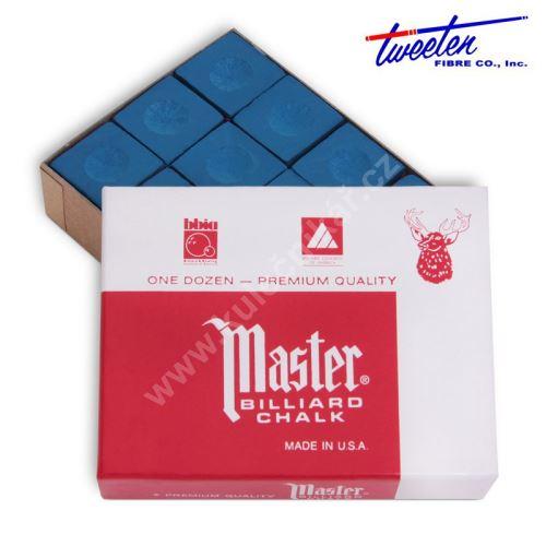 Kulečníková křída na tágo MASTER Blue, 12 ks