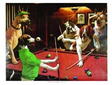 Billiard Posters Dogs - The Scratching Beagle