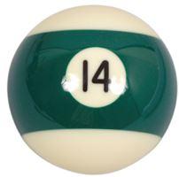 Náhradní koule pool standart jednotlivá č.14 - průměr 57,2mm