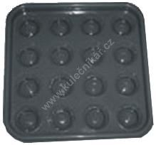 Tray rack for 16 balls pyramid of balls 68 mm