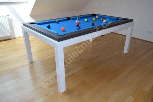Kulečník Pool billiard FUSHION Steel, lamino - jídelní stůl