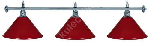 Billiard Lamp Silver Elegance 3, silver ramp, silver Sirma