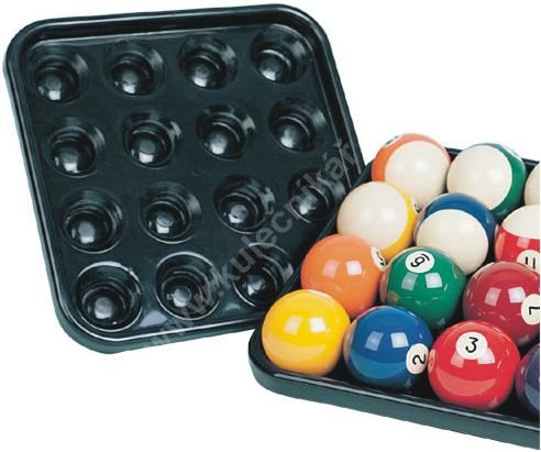 Tray, rack balls for 16 pool balls 57.2 mm