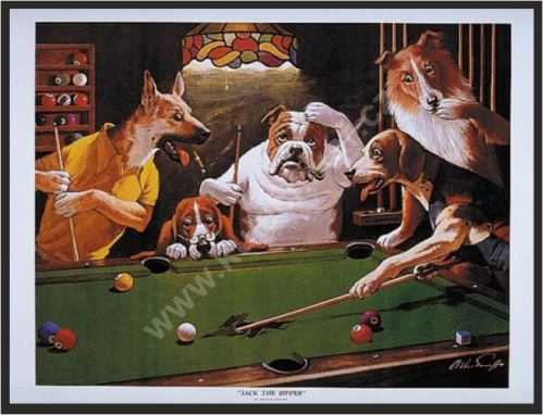 Billiard poster Dogs - Jack the Ripper