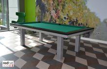 Kulečník SLIM pool biliard 7,5ft, Lamino/Kov - jídelní stůl
