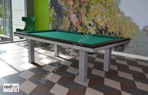 Kulečník pool biliard SLIM  Lamino/Kov - jídelní stůl