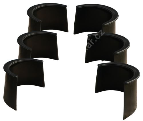 Set corners rubber collars pool 100 mm