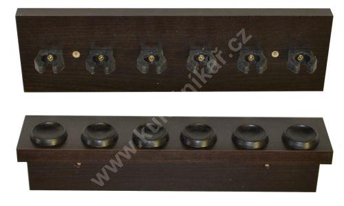 Billiard cue holder ROMAN - 6 cues mahogany