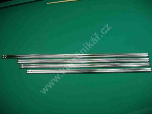 Tyč na stolní fotbal -  tyče bez hráčů 16 mm -  sada 8 ks