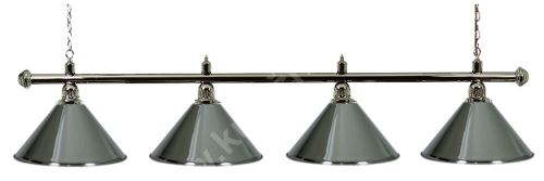 Billiard Lamp Silver Elegance 4 silver ramp, silver Sirma