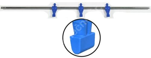 Rod for table football - 3 blue players - football bars